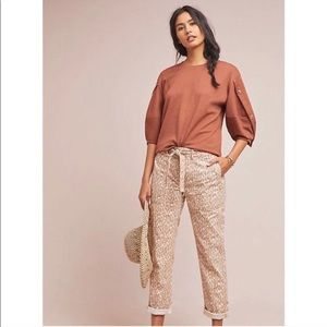 Anthropologie NWT The Wanderer Leopard Pants✨